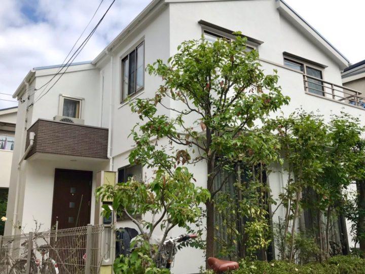 小平市 O様邸 外壁屋根塗装工事、玄関窓枠改修工事