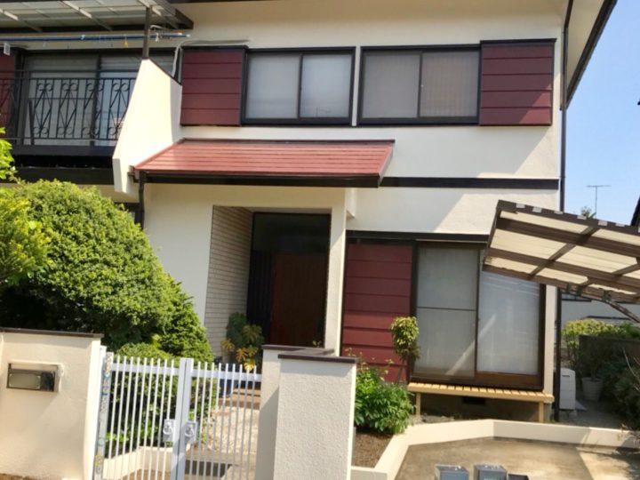 秦野市 M様邸 外壁屋根塗装工事、木製扉塗装工事