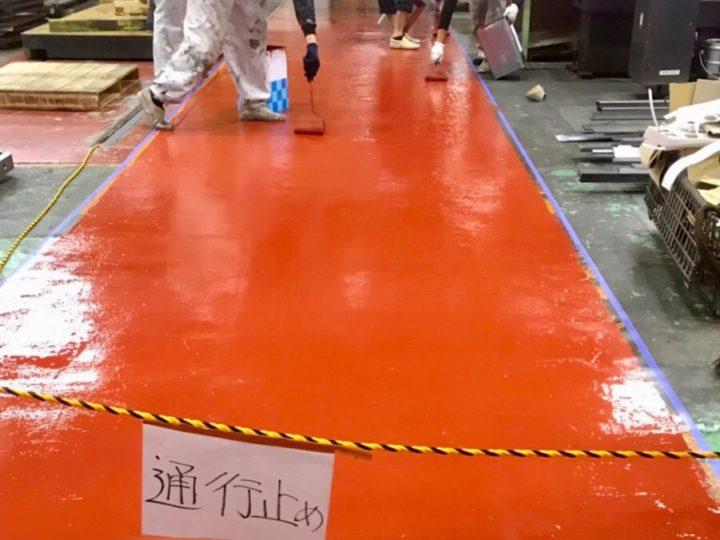 伊勢原市 ビル内 床塗装・階段塗装工事