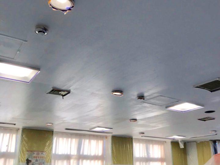 足柄上郡 福祉センター 天井塗装工事