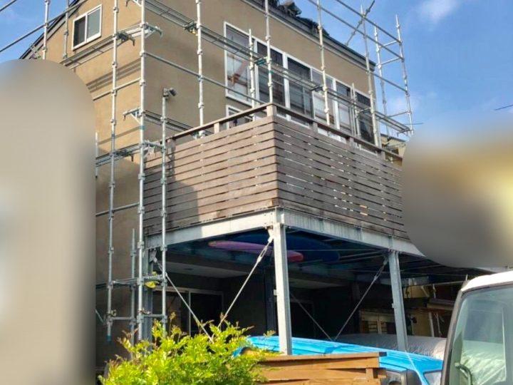 【施工中】茅ヶ崎市 I様邸 屋根・外壁塗装工事