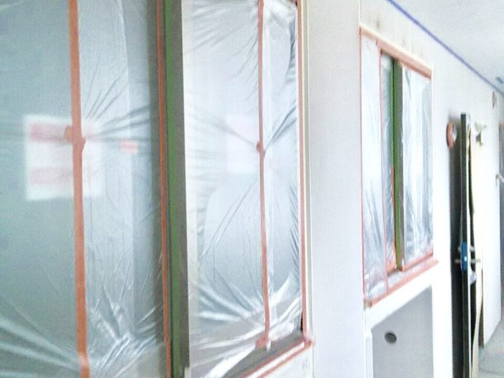 【施工中】足柄上郡開成町 新築マンション塗装工事
