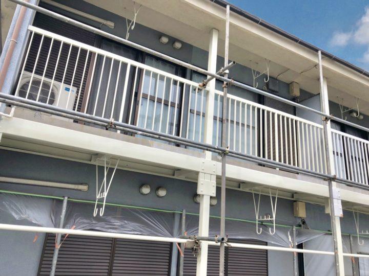 横浜市 アパート 鉄部塗装工事