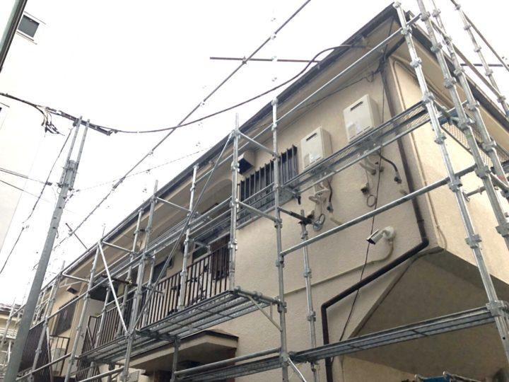 【施工中】武蔵野市 アパート 外装改修工事