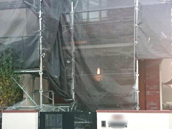【施工中】平塚市 A様邸 屋根・外壁塗装工事
