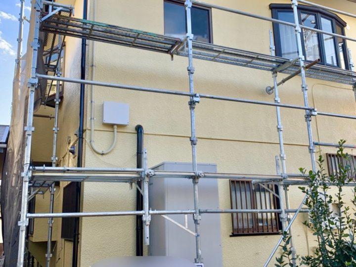 【施工中】中郡大磯町 S様邸 外壁塗装工事