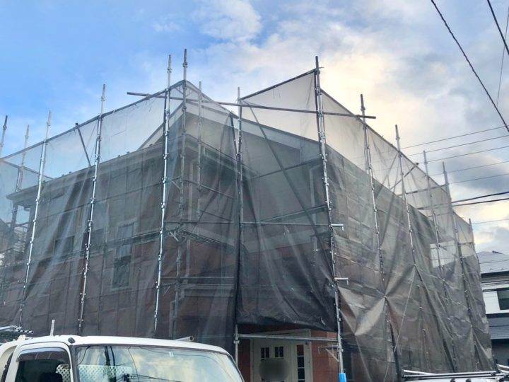 【施工中】茅ヶ崎市 I様邸 外壁塗装工事