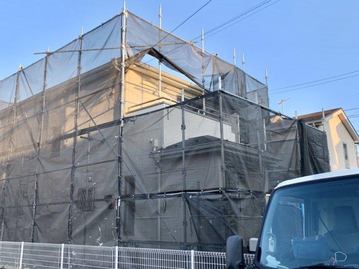 【施工中】茅ヶ崎市 S様邸 外壁塗装工事