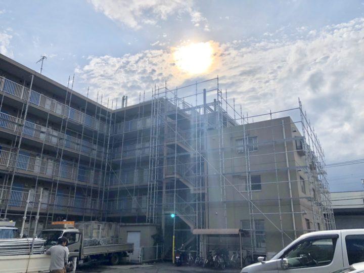 【施工中】厚木市 マンション 外装改修工事