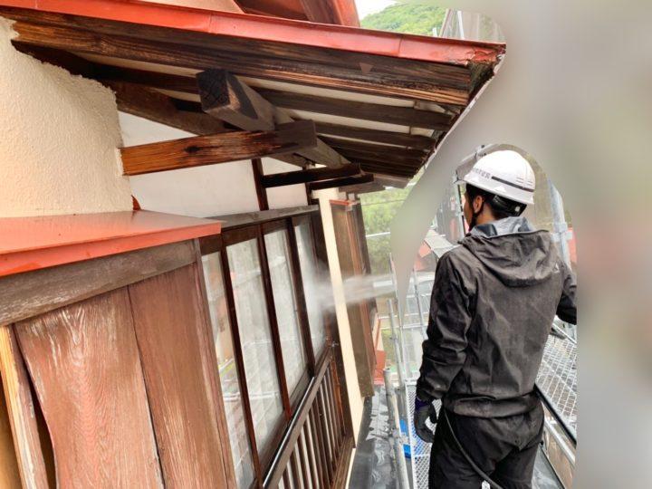 【施工中】伊勢原市 M様邸 屋根・外壁塗装工事