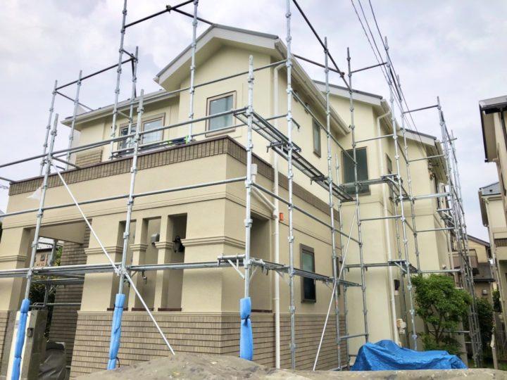 【施工中】西東京市 S様邸 屋根・外壁塗装工事