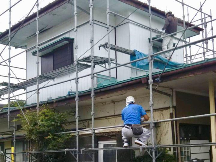 海老名市 S様邸 軒天張り、破風板塗装工事