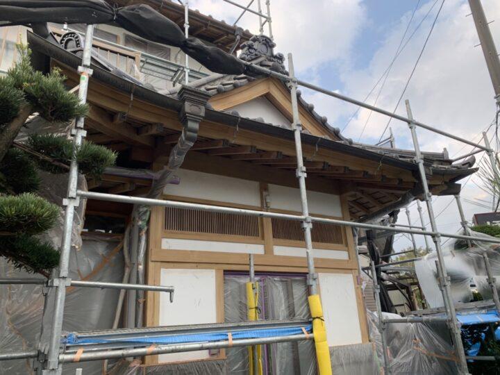 【施工中】秦野市 W様邸 外壁塗装工事