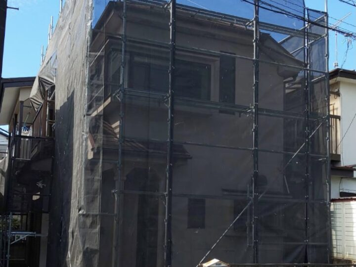 【施工中】国分寺市 M様邸 貸家屋根・外壁塗装工事