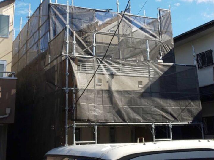 【施工中】杉並区 I様邸 屋根・外壁塗装工事