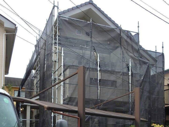【施工中】厚木市 O様邸 外壁塗装工事