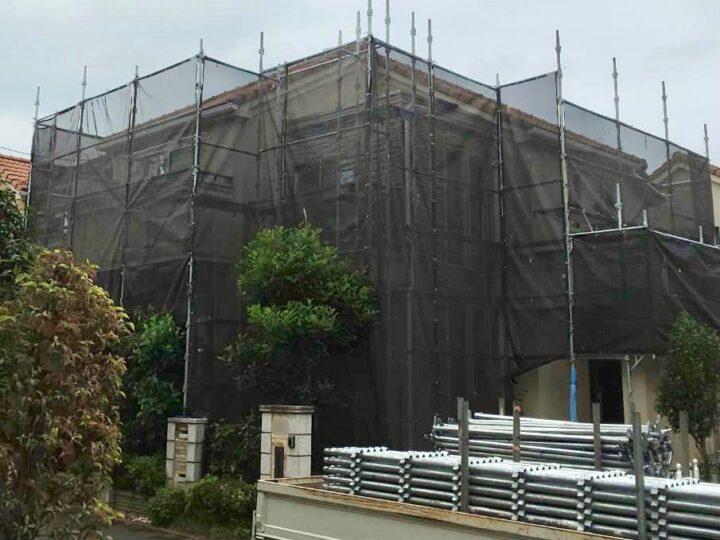 【施工中】小平市 W様邸 外壁塗装工事