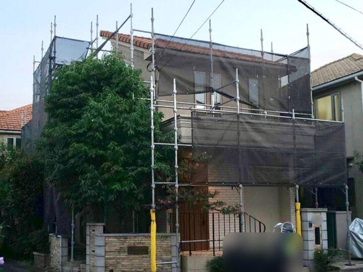 【施工中】小平市 T様邸 外壁塗装工事